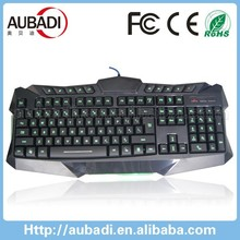 custom logo led flashing backlight wired gaming keyboard with number keyboard