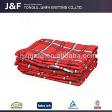 .Absorbency to skin quality-assured luxury wool plaid blanket throw