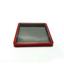 square business cards tin box with window