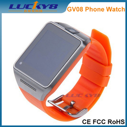 Bluetooth Smart Watch GV08 Factory, GSM Wrist Mobile Watch Phone Android, SIM Card Smart Watch Phone