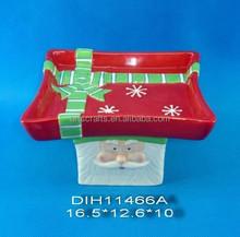 2015 Christmas decorative ceramic cake holder