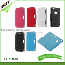 5 Colors Ultra Thin PU Leather Phone Case For iPhone 6 Hard Skin Flip Wallet Case Protective Cover