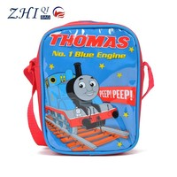 New cheap pvc waterproof kids messenger bags china with tomas cartoon printing for school student