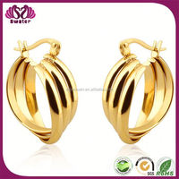 Best Selling Items Hight Quality Products Gold Earrings 2012 New Design