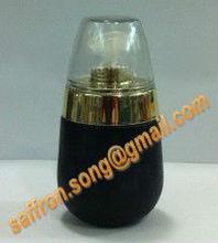35ml oval de vidrio botella de base de oro con la bomba