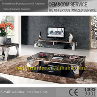 Designer best selling nickel and marble coffee table