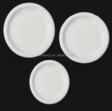 MS-609 white porcelain ceramic tableware round plate
