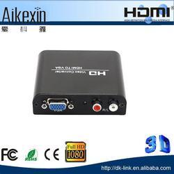 Adapter Hdmi To Vga Converter Box Full Hd Usb Pc To Tv Audio