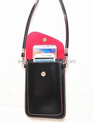 Cellphone leather bag case for samsung galaxy S4 S5 pouch case
