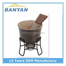 High quality mini chocolate fondue set