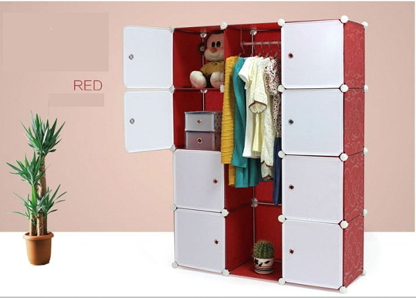 Artesanal Ouro Preto ~ Mobília do quarto guarda roupa portátil armário novo einovador de plástico doméstico roupa do