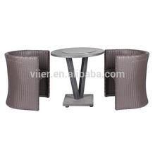 3pcs/set imitação mesa de mármore, cadeira de varanda, pe cadeira de vime