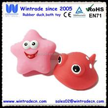 Vinyl manta ray fish & PVC starfish bath squirting toy