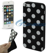 Gift Cute Polka Dot TPU Mobile Case For iPhone5( IP5G-011)