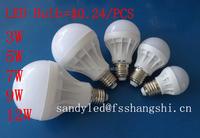 Factory cheap price 3W5W7W9W12W LED bulb B22/E27 Plastic LED Bulb Light