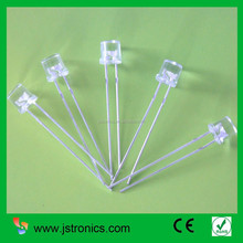 5mm amber flat water clear LED diode 120 degree for indicator