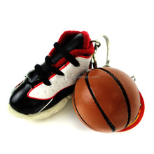 basketball+shoes key chain,delicate key chain with football boots pendant