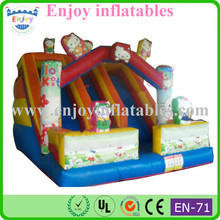 obstacle hello-kitty inflatable slide/ 18ft inflatable slide/ mini inflatable slide