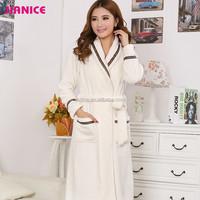 100% polyester flnnel Night robe, bathrobe for women