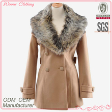 Western Style OEM Custom design fashion long sleeve winter double breasted mink coat