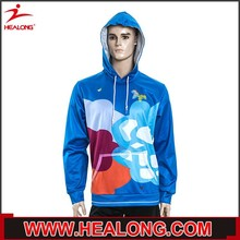 thin weight autumn wear excellent handicraft blue cut and sew hoodie