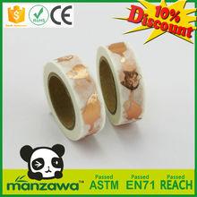 High demand products custom gold blocking decorative foil washi tape