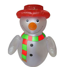 outdoor decoration christmas inflatable snowman model with hat and scraf