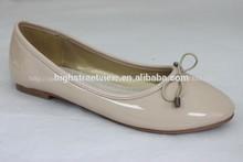 2015 de moda y de lujo para damas zapatos de la bailarina de lujo con diseño bowknot