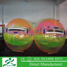Inflatable hamster ball pool toys, human hamster water walking ball