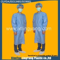 Long Sleeve Nonwoven Operating Gown