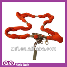 Hot Sale Summer Orange Fabric Chain Belts for Dress in Wholesale