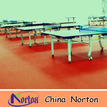 red color table tennis court pvc flooring,sports pvc floor NTF-PS046B