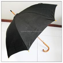 Solid black color umbrella for gentlemen