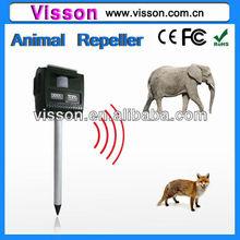 Wild solar ultrasonic sounds sonic multifunctionle led pest control,repeller ppigeon,bat,sparrow,rat,snake,dog,cat,elephant,fox.
