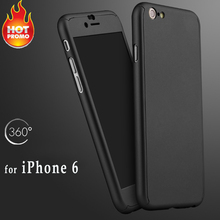 New Hot Popular Front Back Protective Phone Case Shockproof Shell Skin for iPhone 6s S6 in Rubber finishing