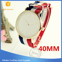 2015 fation new quartz lady watch nylon woven strap watches for woman waterproof watches
