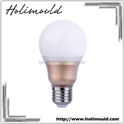Super bright energy saving luxury gold color A60 E27 9w led light bulb