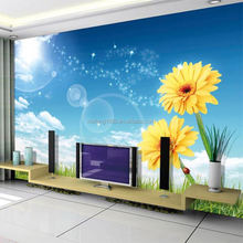 Simple and modern famouse paris symbol building wallpaper for home wall