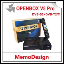 2015 factory price hd openbox v8 pro combo DVB-S2+T2 DVB-C with Internet Sharing functions in stock