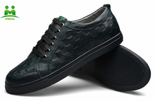 Hot sell genuine leather sneakers mens trainers big size 47 and 48
