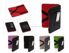 Custom PU leather Business card case with Elastic band for promotion