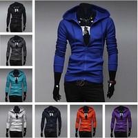 2014 new fashion casual slim male sweatershirts men hoodies pullovers 9 colors M-XXL