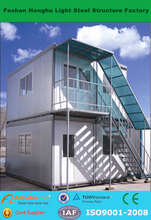 Chinese 2 storey low cost prefabricated worker container house