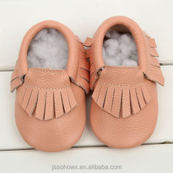 Wholesale genuine leather baby shoes, italian leather moccasin baby shoes