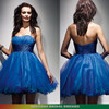 STRAPLESS EMPIRE A-LINE SHORT CHIFFON BALL GOWN COCKTAIL DRESS