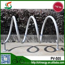 New Design Steel Spiral Bicycle Parking Racks Floor Zinc Coat Parking Rack