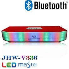 Kingwon wireless LED magic cube mini bluetooth home theater speaker 7.1