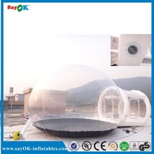 Advertising outdoor party igloo inflatable transparent clear lawn tent