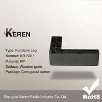 L-shaped Hardware Plastic Legs for Sofa