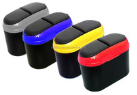Mini car vehicle trash garbage rubbish bin can dust box with holder hook